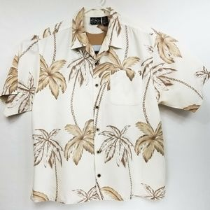 OP Mens XL Hawaiian Shirt Palm Trees